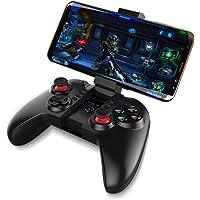 Redlemon Control de Celular Bluetooth para Videojuegos con Soporte Ajustable para Smartphone. Compatible con Smart TV, PC, Laptop, Windows, Android, Batería Recargable de Larga Duración