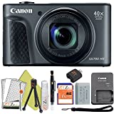Canon PowerShot SX730 HS 20.3MP Digital Camera 40x Optical Zoom and Built-in WiFi/NFC (Starter Bundle, Black)