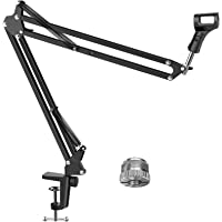 """InnoGear Microphone Arm, Upgraded Mic Arm Microphone Stand Boom Suspension Stand with 3/8"""" to 5/8"""" Screw Adapter Clip…"""
