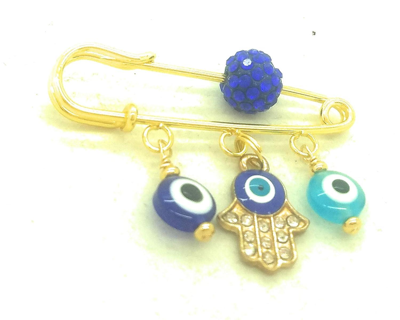 Goldtone Evil Eye Stroller Pin for Baby