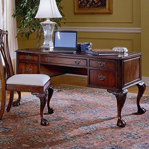 Ball Claw Furniture - Hooker Furniture Ball and Claw Writing Desk in Dark Cherry