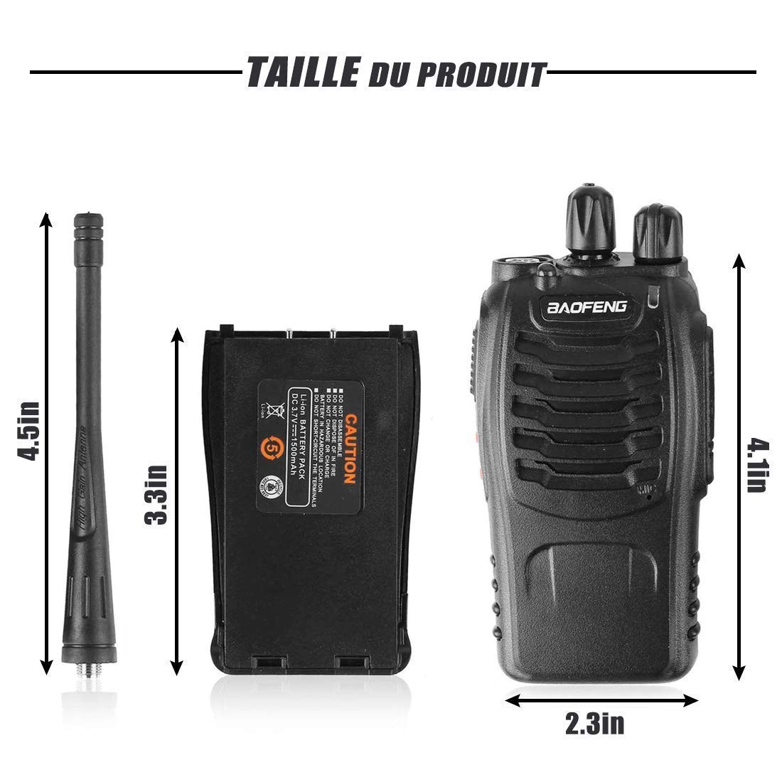 CDC DIGI 2PCS BF-888S USB Rechargeable Walkie Talkies Long Range Two-Way Radio Walky Talky with Earpieces 16CH Handheld Transceiver with LED Light for Field Survival Biking Hiking