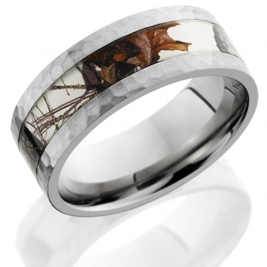 Amazon Com Titanium Camouflage Ring Titanium Wedding Band