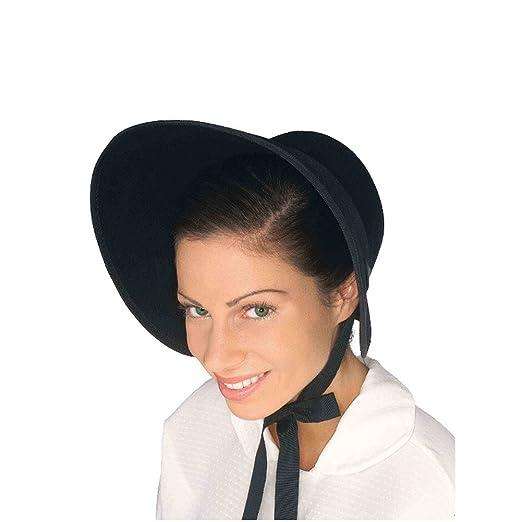 f123aa0a5df Amazon.com  MyPartyShirt Black Felt Bonnet  Clothing