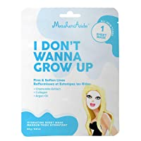 MaskerAide I Don't Wanna Grow Up Firming Face Mask with Hydrolyzed Collagen, Hydrolyzed...