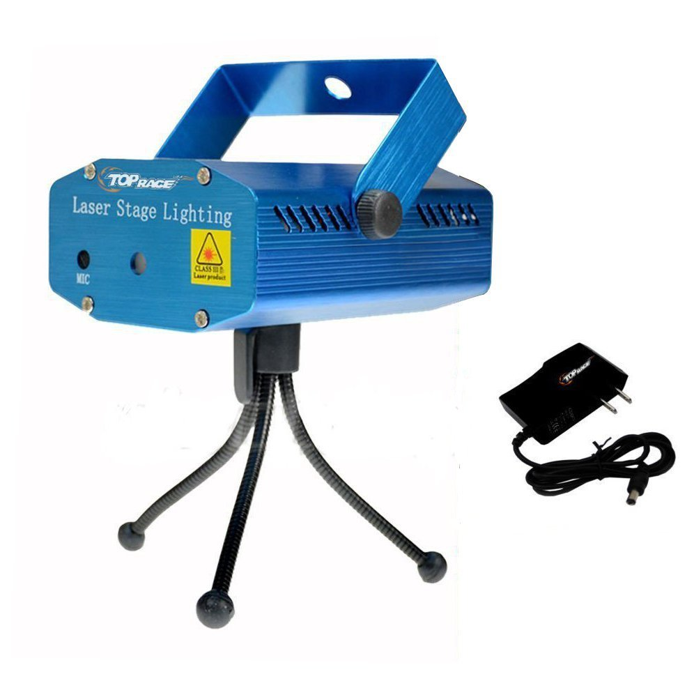 Amazon.com: Top Race LED Mini Stage Light Laser Projector Club Dj ...