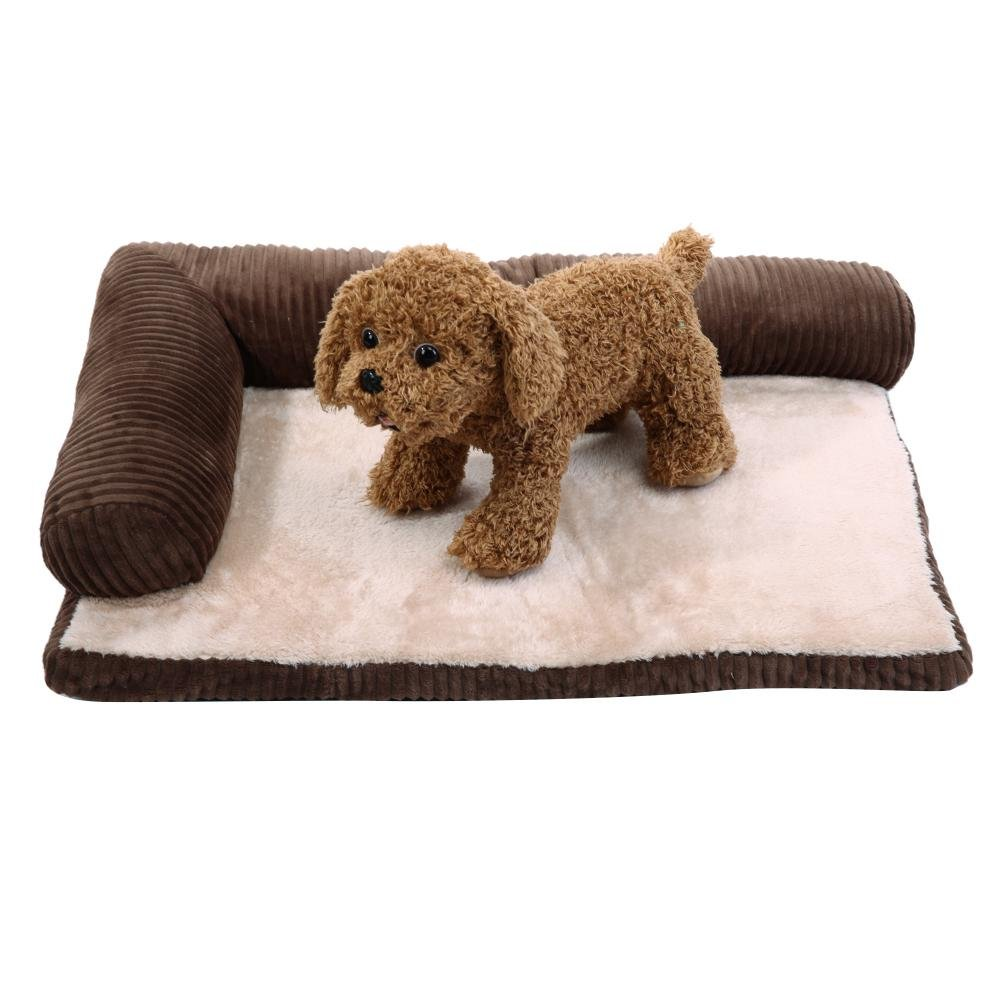 Jocestyle Detachable Corduroy Cushion Puppy Sofa Bed House Coffee for Pet Dog Bed