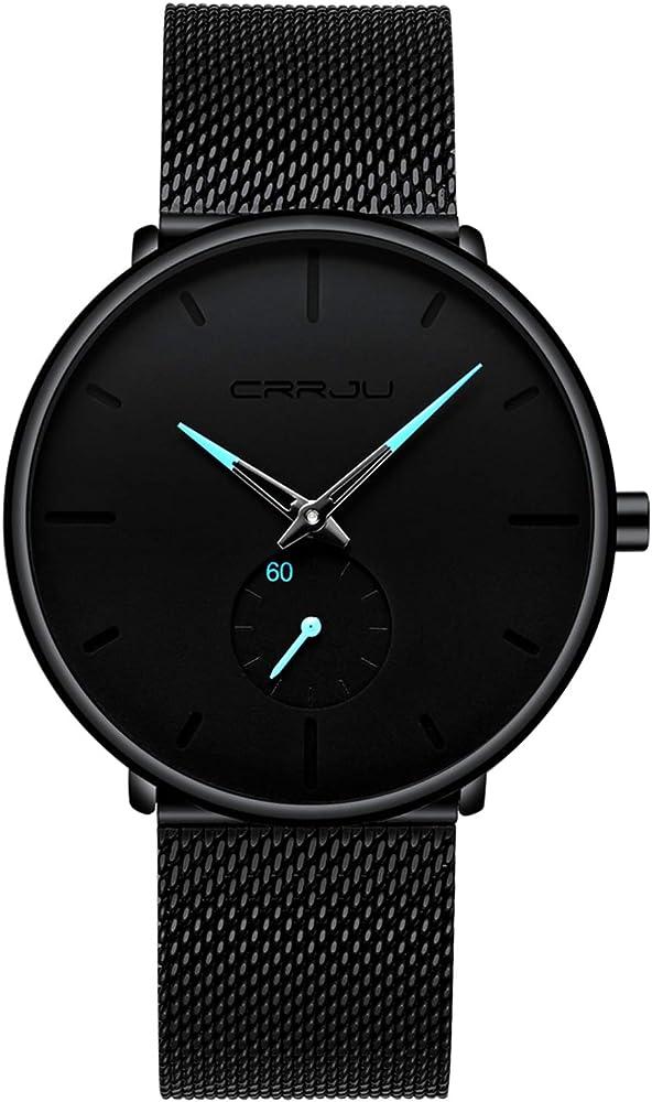 Dayllon Relojes Hombres Moda Relojes De Pulsera Simples Hombres Relojes De Pulsera Ultra Finos A Prueba De Agua para Hombres Azul: Amazon.es: Relojes