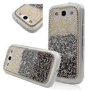 Seedan Samsung Galaxy S3 III I9300 Case Diamond Rhinestone Bling Crystal Handmade Back Cover Glitter Shiny Protective Skin Cases