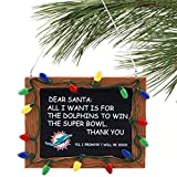 NFL Miami Dolphins Resin Chalkboard Sign Ornament, Green, One Size