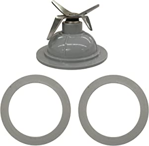MAYITOP BL1900 Blender Blade and (2) Gasket for Black and Decker 14291600, Fits BL1900, BL3900, BL4900, BL5000, BL5900, BL6000 & BL9000