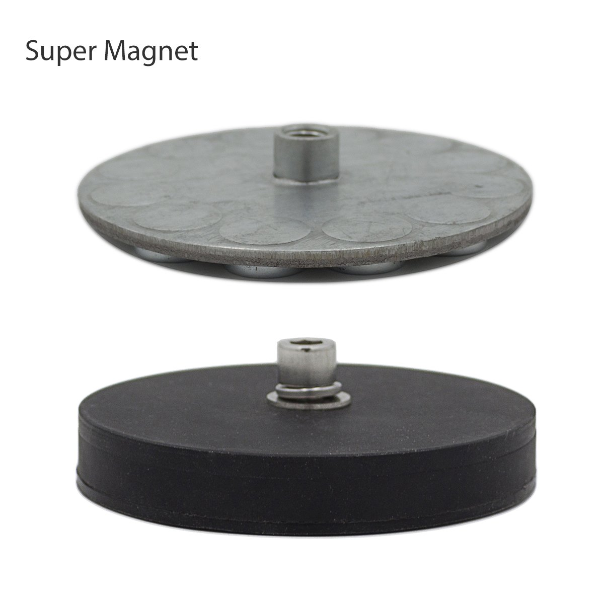 WOWLED 2pcs Magnetic Mount with Rubber Pad Tube Clamp for LED Lighting LED Work Lights Driving Lights Magnet Stainless Steel