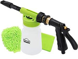 Car Wash Foam Canon, DEWINNER Foam Blaster, Quick Release Soap Washer gun, Quick Connect to Garden hose Snow Foam Lance,Auto Washer Sprayer, With Cleaning Kit