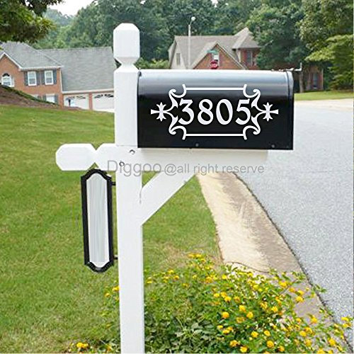 Mailbox Address Number Stickers Home Decor Custom House Numbers Front Door Decal Vinyl Lettering (4.5