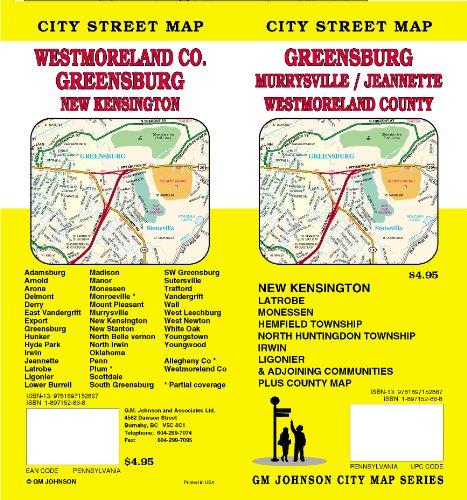 Greensburg, PA / Murraysville / Jeannette / Westmoreland County Street Map