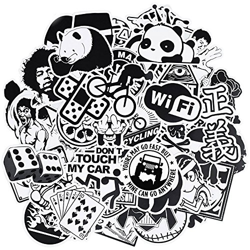 Graffiti Stickers for Car, Laptop , Skateboard, Luggage , Waterproof Vinyl Decals for Motorcycle ,Bicycle,Bumper (100Pcs/Pack Black and White Stlye)