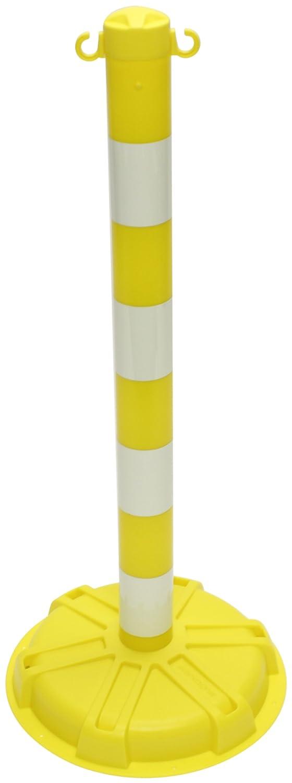 High-Density Polyethylene 38 Height x 3 Diameter Post x 16 Width Base Accuform PRC447YLGL BLOCKADE Stanchion Post Yellow with Glow-in-the-Dark Stripe 38 Height x 3 Diameter Post x 16 Width Base Accuform Signs