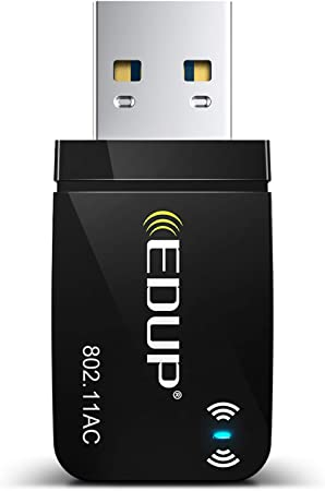 EDUP USB WiFi Adapter for Laptop PC AC 1300Mbps Nano Wireless Network Card Wi-Fi Dongle Dual Band 2.4G 5.8G 802.11AC Support Windows 10//7// 8.1// XP//Vista//Linux//Mac OS 10.6-10.14