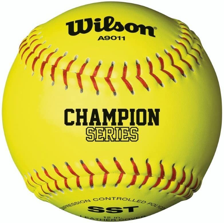 Wilson A9011 Baseball/Softball, Unisex Adulto, Yellow, 12: Amazon ...