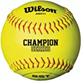 Wilson Alta Escuela y Adulto Fast Pitch Softball, Polycore, Fibra Amarillo