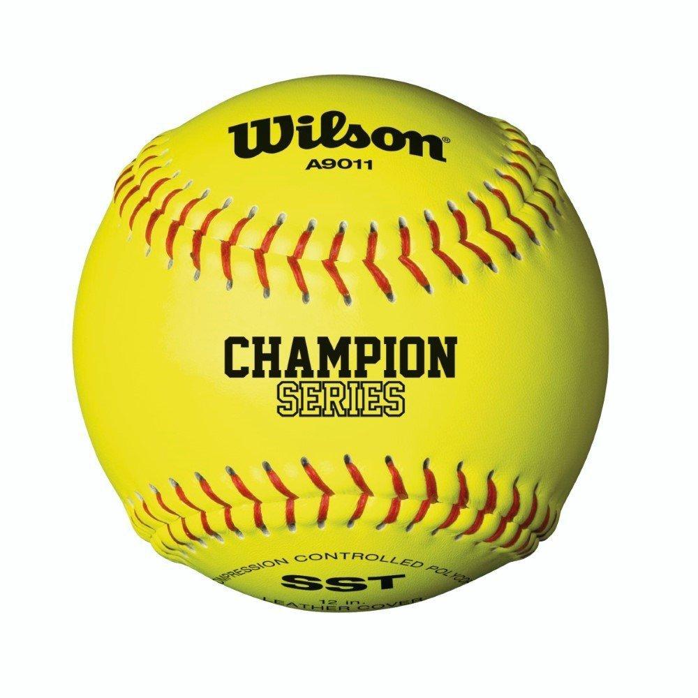 Wilson Unisex A9011 Nfsha Softball, Yellow, Size 12 SS-SMS-1003072