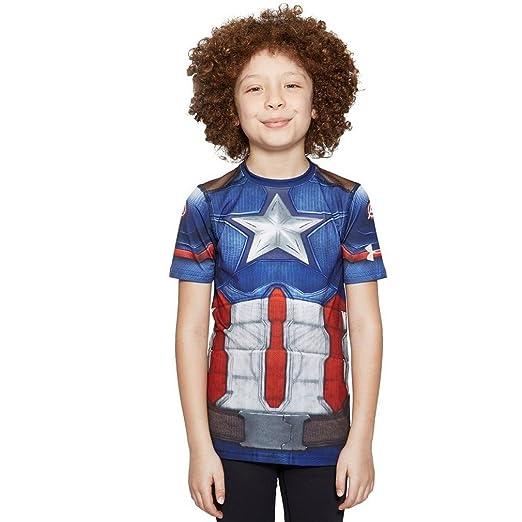 f825db89 Amazon.com: Under Armour Kids Mens Captain America Suit Short Sleeve (Big  Kids): Clothing