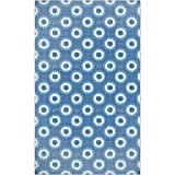 Faux Shibori Area Rug: Large Soft and Stain Resistant