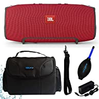 JBL Xtreme Portable Wireless Bluetooth Speaker (Red) + I3ePro Water Resistant Carry Case + I3ePro Dust Blower