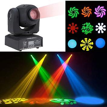 Lixada DMX-512 Etapa Luz Giratoria Cabeza Móvil 8LED de Color ...