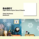 BAISDY 10Pcs 10Mil Blank Mylar Stencil Sheets 12
