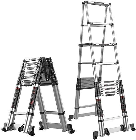 ZR- Escalera Extensión Multifunción Aleación Aluminio, Escalera Ingeniería, Escalera Portátil Del Hogar, Escalera Interior Plegable -Fácil de almacenar y fácil de llevar: Amazon.es: Hogar