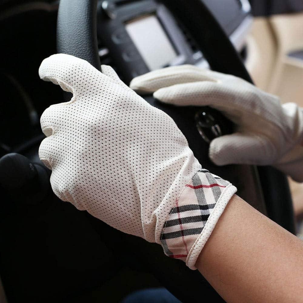 M/änner und Frauen Fr/ühlings und Sommerhandschuhe Sonnenschutz D/ünne Handschuhe Fahren Fahren Atmungsaktiv rutschfeste Handschuhe Schwei/ß absorbierende Baumwoll-Sonnenschutzhandschuhe Touchscreen