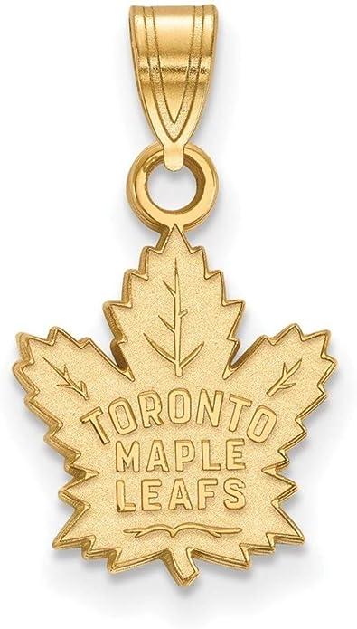 Amazon Com 10k Yellow Gold Nhl Toronto Maple Leafs Small Pendant By Logoart Jewelry