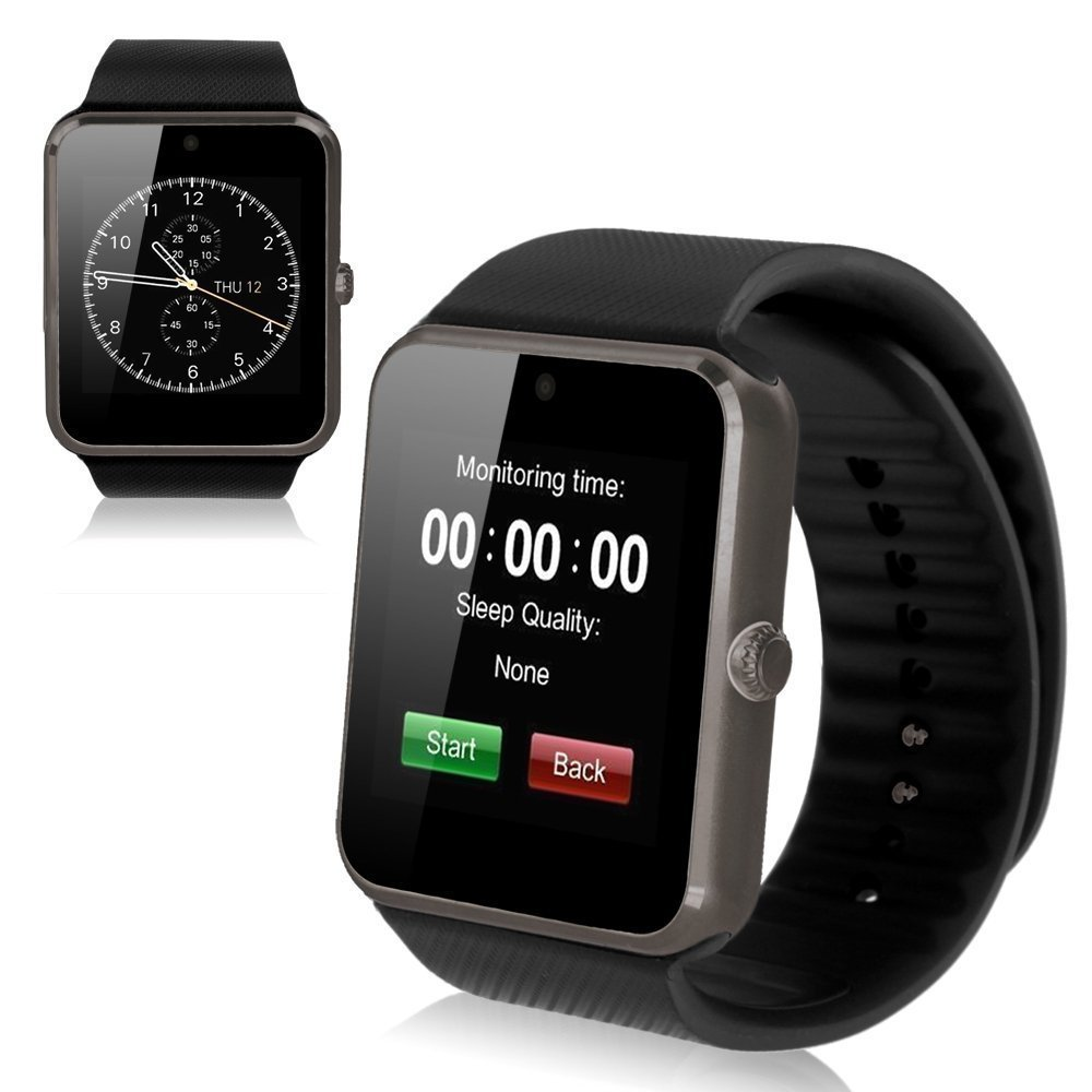 Smart Watch avec carte SIM entrée maidealz GT08 Bluetooth Smart Watch Fitness Watch with Touch Screen Hands Free Calorie Counter Podomètre Bracelet Smart ...