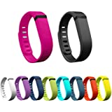 Hometalks 10pcs Sostituzione Sports Wrist Band con catenacci per Fitbit Flex (senza Tracker) + 1pcs libero Hometalks moschettone--large
