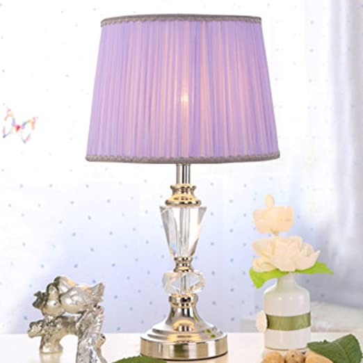 CAILIN Crystal Small Table Lamp Modern Minimalist Bedroom Study Adorable Light Purple Bedrooms Minimalist Decoration