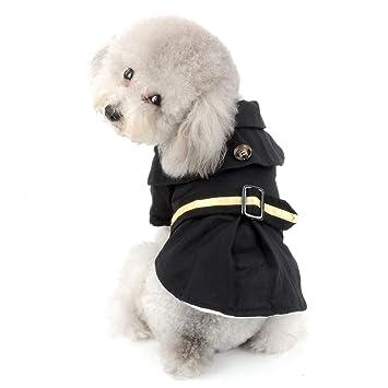 SELMAI - Abrigo para Perro pequeño, Resistente al Viento, Forro Polar, cálido,