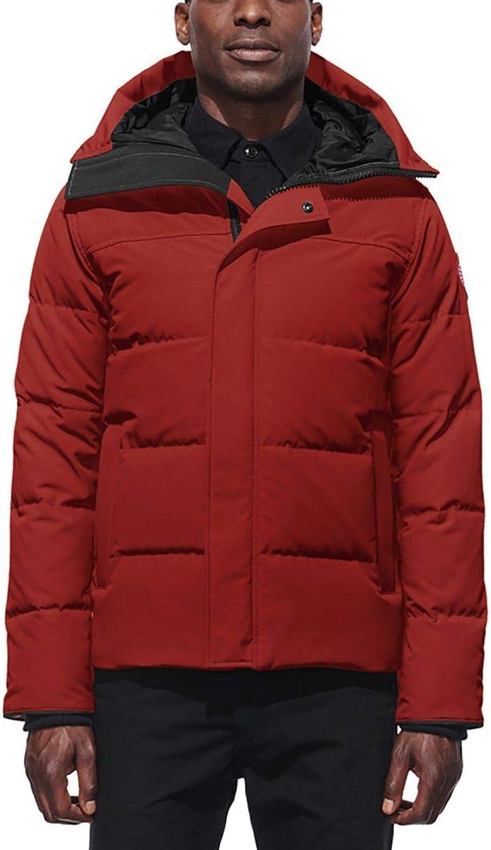 (カナダグース)Canada Goose Macmillan Down Parka メンズ ジャケット赤 Jasper [並行輸入品] 赤 Jasper 日本サイズ L相当 (US M)