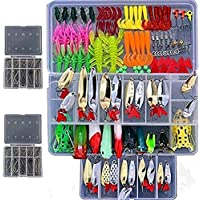 Smartonly1 Set 226Pcs Fishing Lure Tackle Kit Bionic Bass...