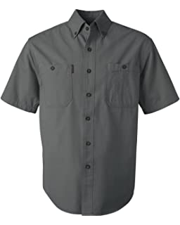 a7b19875 Amazon.com : DRI Duck Brick 2 Ply Washed Button Down Mens : Clothing