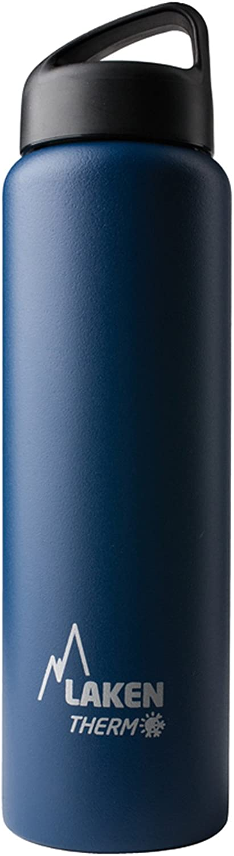 Laken Classic Botella Térmica Acero Inoxidable 18/8 y Doble Pared de Vacío, Unisex adulto, Azul, 1000 ml