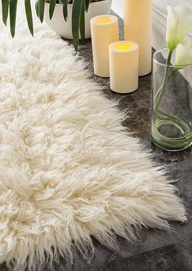 amazon com hand woven flokati shag new zealand wool natural shag area rugs 6 feet by 9 feet 6 x 9 kitchen dining