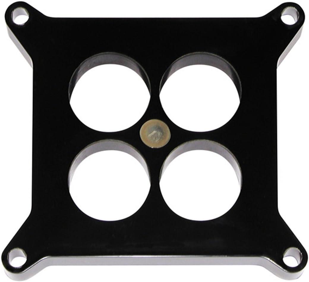 """1/"""" Aluminum 4150 CNC Machined Carburetor Spacer Square Bore 4 Port Black"""