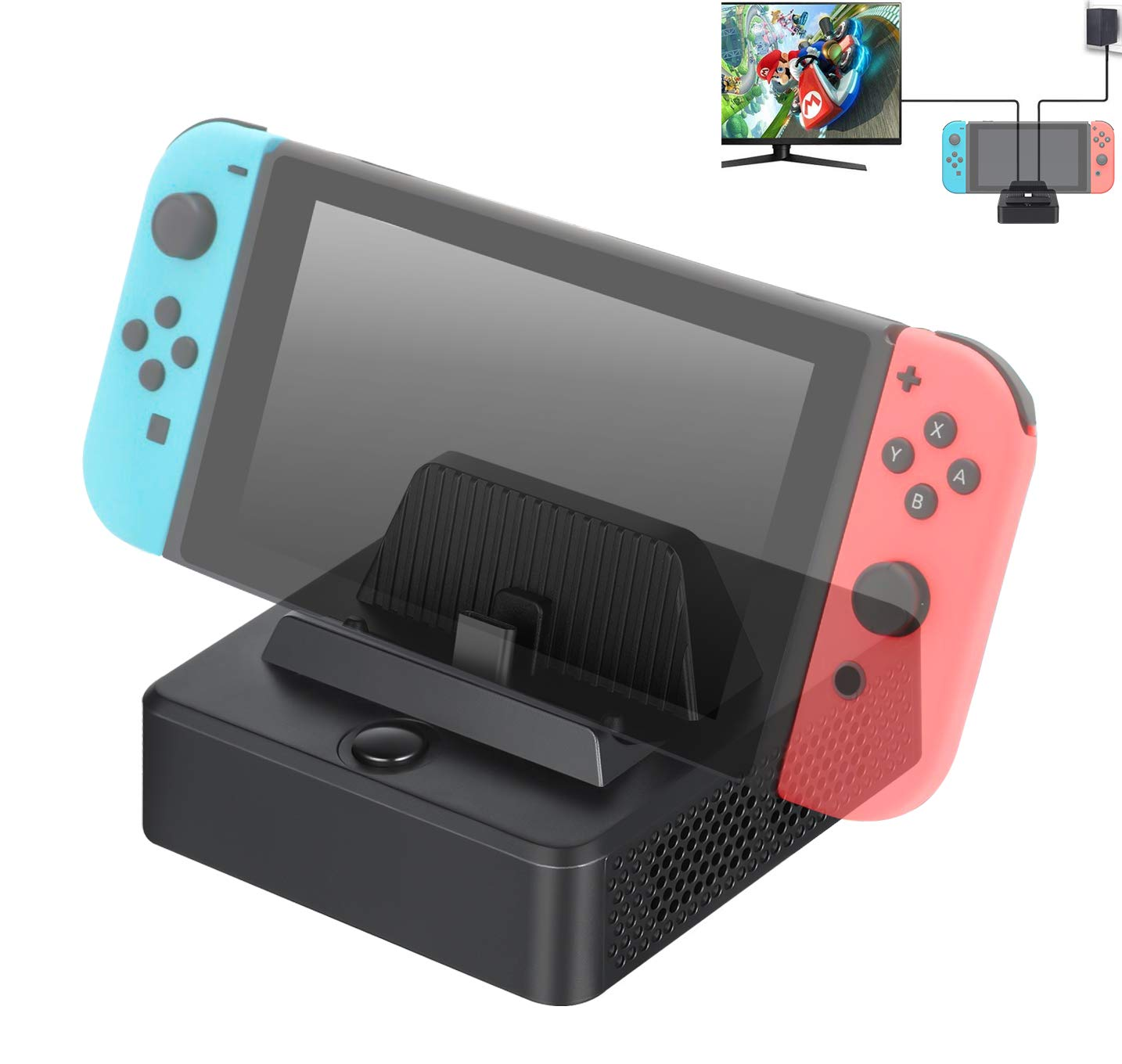 HOCOMO Docking Station for Nintendo Switch, Portable Switch Docking Stand to HDMI Adapter Switch Game Console with Extra USB 3.0 Port Input by Aurho