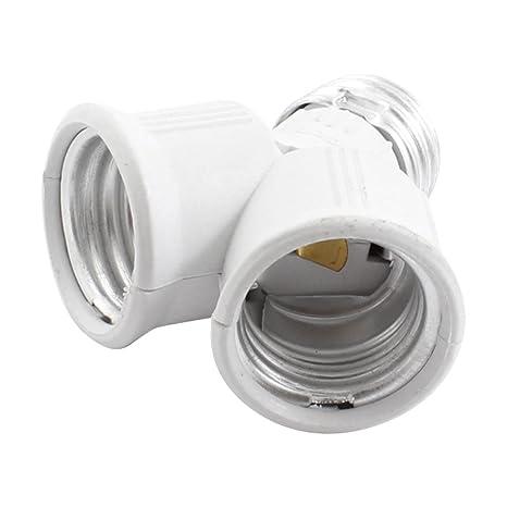 E27 a E27 Dual bulbos de lámpara sujetador del conector del adaptador de CA 250V 6A