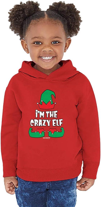 Haase Unlimited Im The Elf Christmas Santa Toddler//Youth Fleece Hoodie