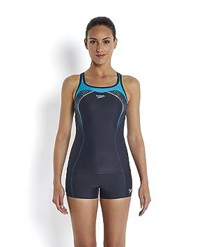 a8d65a0063ae Speedo Bañador Mujer, Bañador, Mujer, Color Oxid Grey/Aquarium/White,  tamaño Talla 28