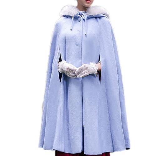 Collar De Piel De Otoño E Invierno Con Capucha Retro Abrigo De Capa De Mantón Engrosamiento Cálido