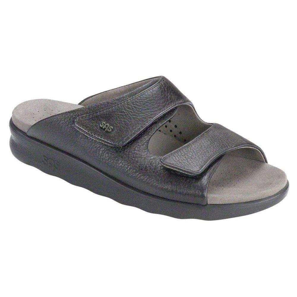 SAS Womens Cozy Leather Sandal B01M7007B9 5 B(M) US|Black