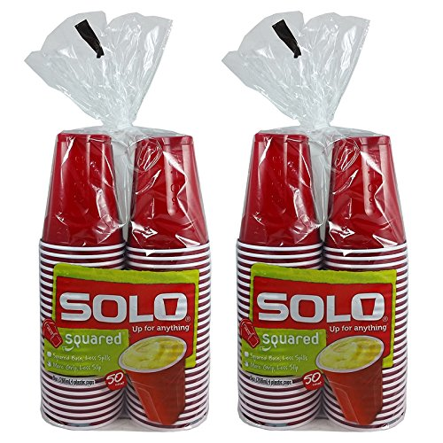Solo Squared Party Cups Red product image
